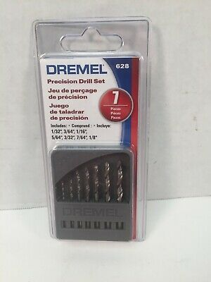 Dremel Precision Drill Bit Set 628 Genuine 7 Pieces Sealed