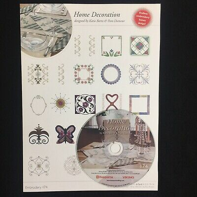 Go Husqvarna Viking Embroidery CD #213 Hoop By Lena Mattsson Sew