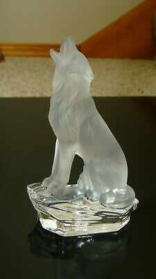 RARE Goebel Crystal Collection Wolf Figurine, Signed