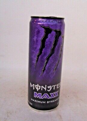 3 Pack New Monster Maxx Maximum Strength Eclipse Energy Drink 12 Fl Oz Full Can