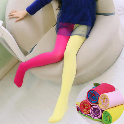 Fashion Candy Color Kids Girls Velvet Tights Stockings Pantyhose Pants Nice uD