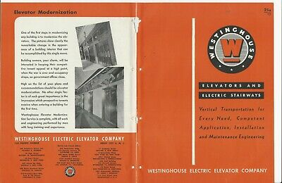 1945 WESTINGHOUSE ELECTRIC Elevators Escalator Stairways POST WAR READY Catalog