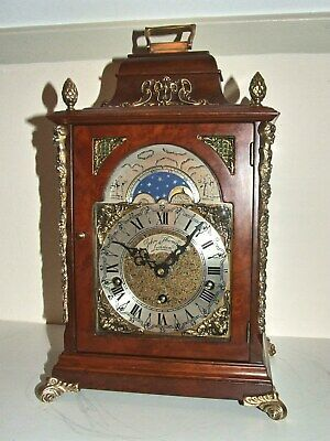English 8 day Westminster,Whittington,St.Michael,8 Bars,Bracket Clock,Moon Phase
