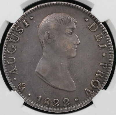 1822 8r MO JM Early Eagle Mexico 8 Reales NGC XF 40