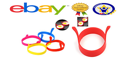 2 x  Silicone Egg Ring Pancake  Round Egg Rings Mould