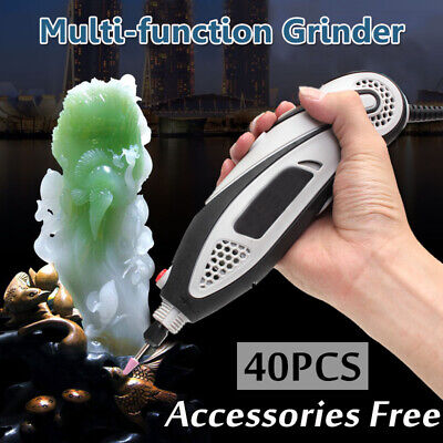40pcs Variable Speed Rotary Tool Set Electric Grinder Engraving Hobby Craft Kit