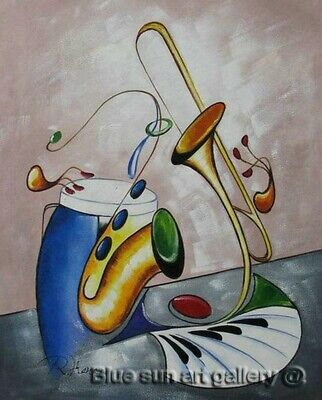 Modern Handpainted Music Abstract Oil Painting On Canvas Wall Art Living Decor