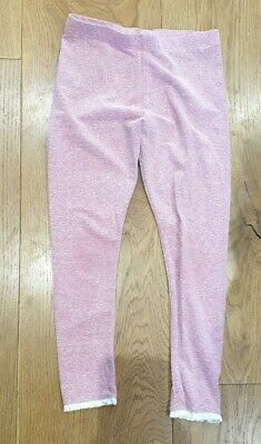 Girls Pink/sparkle Leggings SIZE 9 years NEXT C89