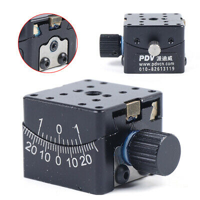 PT-SD304 Manual Goniometer Stage Dovetail Platform Worm Gear Drive 25mm x 25mm