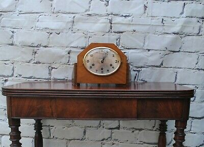 Antique Art Deco 8 day movement Westminster chime Mantle Clock