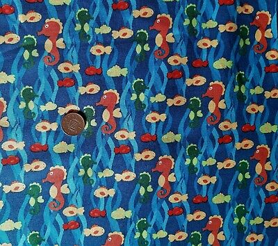 10 Designs Under The Sea 100/% cotton fabric 44 inch 110cm coral fish anchor
