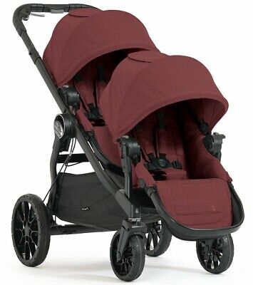 Baby Jogger City Select Lux Twin Tandem Double Stroller w/ Second Seat Port NEW