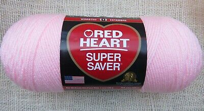 Red Heart Super Saver Yarn 100% Acrylic 7 oz In Baby Pink