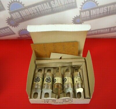 (5 pcs.) COOPER BUSSMANN - 50A, 500V Fuse - Part# FWH-50B (NEW in the BOX)