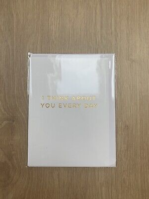 'I Think About You Every Day' Blank Greetings Card