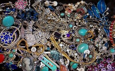 Jewelry Vintage-Modern Huge  Lot Craft, Junk, Wearable, Box 3 FULL POUNDS