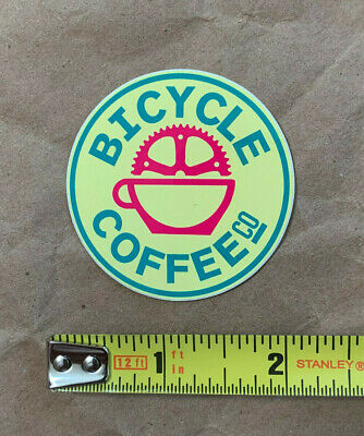 "Bicycle Coffee Company sticker decal, genuine, original, 2"", NEW"