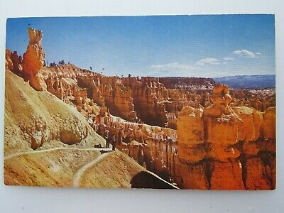1950 Vintage Postcard Switchbacks Navajo Trail Bryce Canyon National Park  A2205