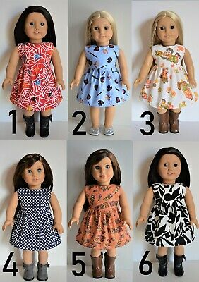 """Handmade Doll Clothes Dress Assorted Colors fit 18"""" American Girl Dolls Maplelea"""