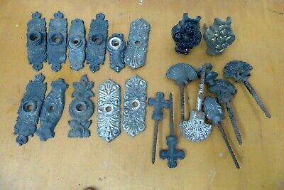 Antique Ornate Cast Metal Knobs Plates Handles Drawer Handles Restorer Parts