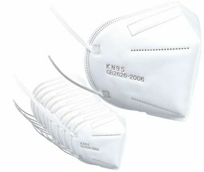Protective KN95 Face Mask Certified Respirator - 10 Pack