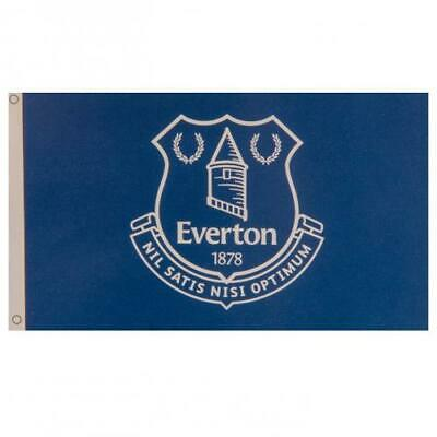 Everton FC Official CrestedLarge Flag  (5ft x 3ft) The Toffees Present Gift
