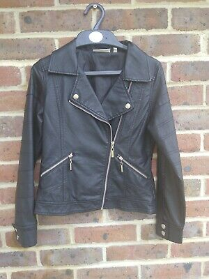 Faux Leather Jacket Black Age 11-12 Years Tammy Girl