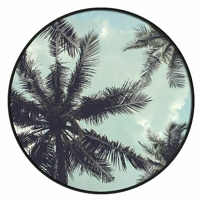 NEW SLH Palms In The Sky Round Framed Canvas