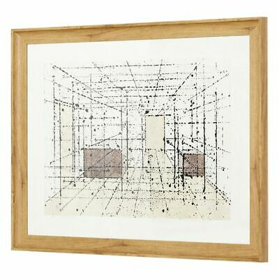 NEW SLH Geometry In Space Framed Canvas Artwork