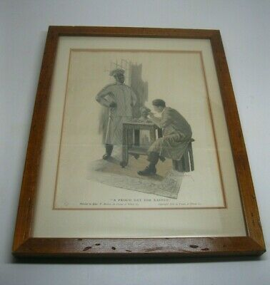 """Vintage 1914 Cream of Wheat Co. """"A Proud Day For Rastus"""" Sign Paper Ad Framed"""