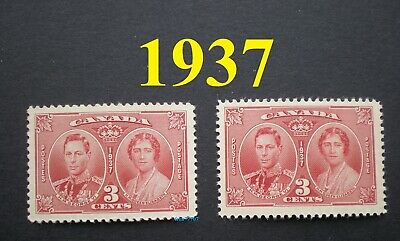 2 stamps 1937 King George VI & Queen Elizabeth 3¢ Scott # 237 Mint NH - Only 99¢