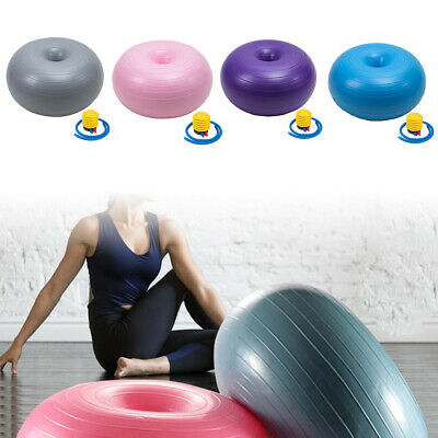 Gym Yoga Ball Exercise Swiss Fitness Sport Pregnancy Birthing Anti Burst + Pump