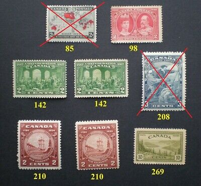 CANADA Old Stamps Mint ✔BUY ONLY THE STAMP YOU NEED!! 99¢ each