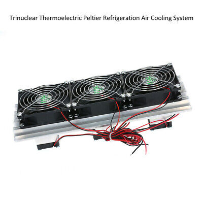 180W MetalTrinuclear Thermoelectric Peltier Refrigeration Air Cooling Fan System
