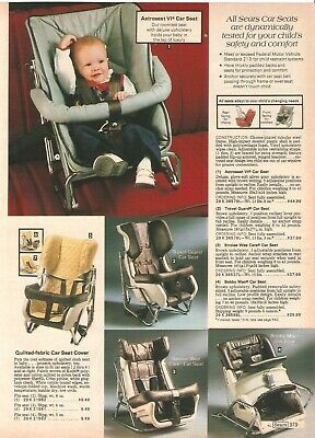 Vintage 1980 Baby Car Seats Carriages Catalog Prints Ad Clipping