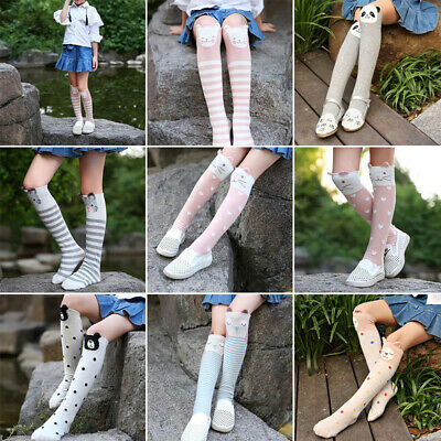 New Baby Kids Toddlers Girls Knee High Socks Tights Cute Leg Warmer Stockings