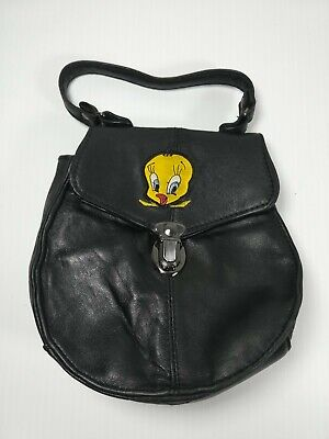 Vintage Small Tweety Bird Looney Tunes Leather Purse Bag