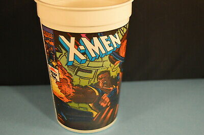 X-MEN PIZZA HUT CUP 1993  COMIC BOOK SUPERHEROES  fast food  advertising  soda 2