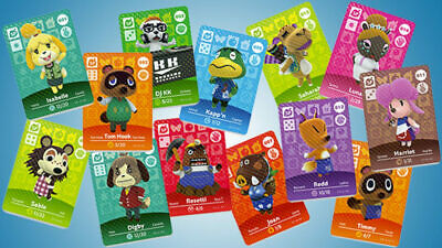 Animal crossing Amiibo cards series 1, 2, 3 & 4, YOUR PICK