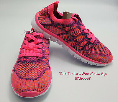 💙 Next Neon Pink Purple Orange Girls Running Sports Sneakers Trainers Shoes New