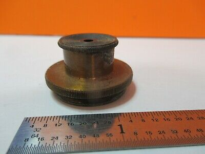Antique Brass Mounted Lens Condenser ?? Optics Microscope As Pictured &7B-B-50