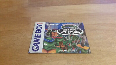 Turtles 2 back from the Sewers Anleitung Manual Nintendo Gameboy