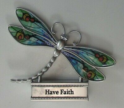 zzL Have faith LIVE WITH JOY DRAGONFLY FIGURINE miniature Ganz message