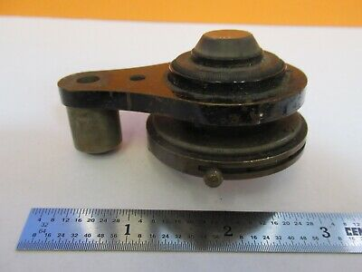 Antique Brass Condenser Assembly Iris Microscope Part As Pictured &7B-B-85