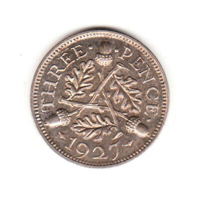 1927 Great Britain George V Sterling Silver Threepence. PROOF