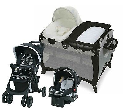 Baby Stroller Travel System With Car Seat Portable Playard
