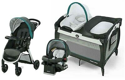 Graco Baby Stroller With Car Seat Travel System Combo Playard Crib