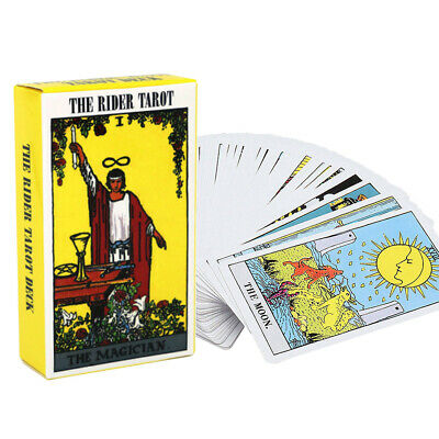 78pcs English Tarot Cards Deck Divination Oracle Card Funny Family Board Game