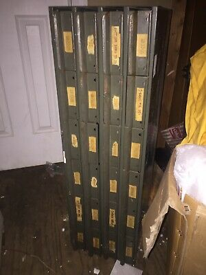 Vintage Industrial Metal 24 Drawer Storage Parts Bin Cabinet Tool Box