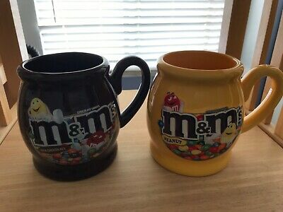 m&m's coffee mugs set of 2